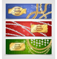 Jewelry Banners Set vector image