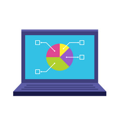 laptop flat icon vector image