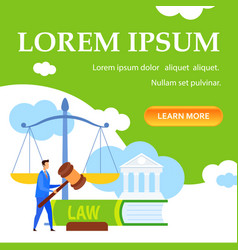 Law lessons courses online class landing page vector