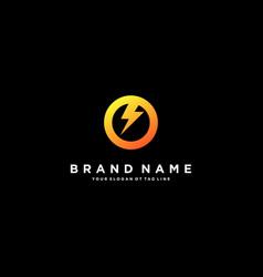 Letter o flash electrical logo design vector