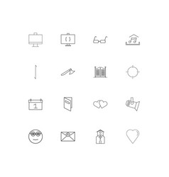 lifestyle simple linear icons set outlined icons vector image