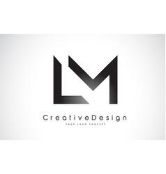 Lm l m letter logo design creative icon modern vector