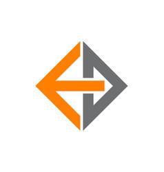 Logo letter e d vector