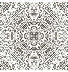 Mandala Coloring page vector image vector image