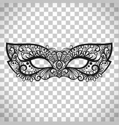 Mardi gras mask on transparent background vector