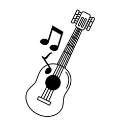 musical guitar icon vector image