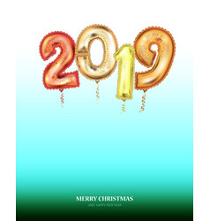 new year count symbol balloon soft nature greeting vector image