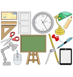 object related with office and education vector image