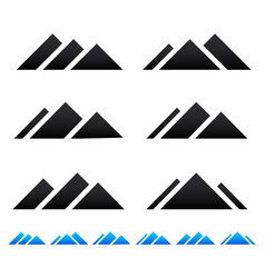Peak mountain pictogramms vector