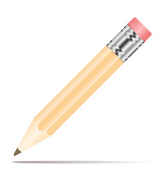 pencil icon in flat design pencil vector image