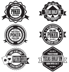 Poker and casino badges vector