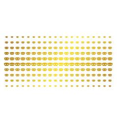 privacy mask golden halftone array vector image