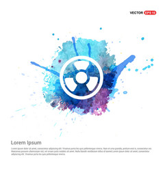 Radiation fan - watercolor background vector