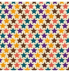 Retro seamless stars pattern vector image