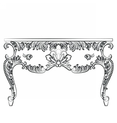 Rich Baroque style Table vector