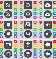 RSS Minus Cloud Police badge Sound Camera Umbrella vector