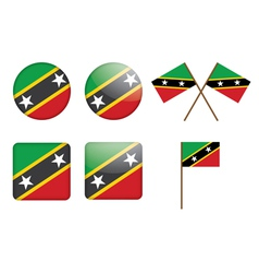 Saint Kitts and Nevis Flag Badge vector image