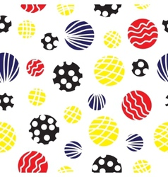 Seamless background with circles vector