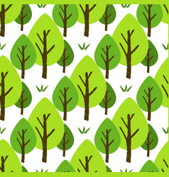 seamless tree pattern vector image