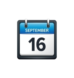 September 16 Calendar icon vector image