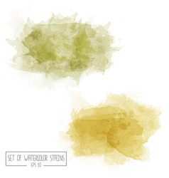 Set of color watercolor stains vector