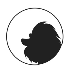 Silhouette of a dog head poodle vector