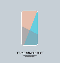 smartphone with colored screen realistic mockup vector image