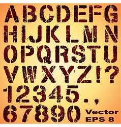 Stencil letters and numbers vector