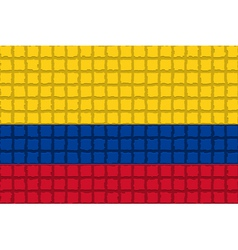 The mosaic flag of Colombia vector