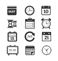 Time schedule icons set vector