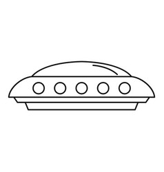 Ufo icon outline style vector