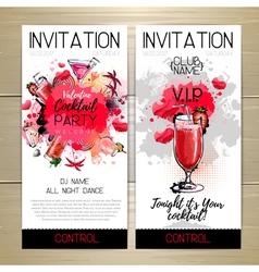 Valentine Cocktail party poster Invitation design vector