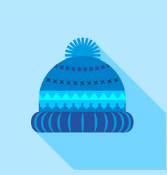 woolen hat icon flat style vector image