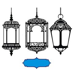 Arabic lanterns vector image