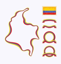 Colors of Colombia vector image vector image