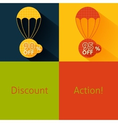 Discount parachute set vector image