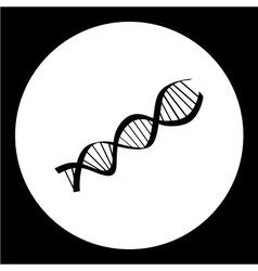dna research symbol simple black icon eps10 vector image vector image