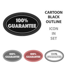 guarantee label icon in cartoon style isolated on vector image vector image