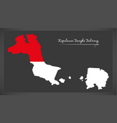 kepulauan bangka belitung indonesia map with vector image vector image