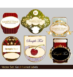 Luxury Label Set vector image vector image
