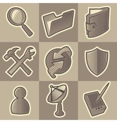 Monochrome internet icons vector image vector image