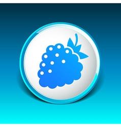 Raspberry logo template Abstract design concept vector image vector image