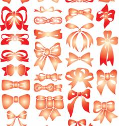 red bows vector image