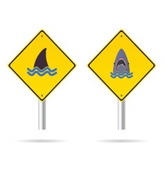 shark yellow sign vector image
