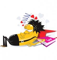 sleeping lover vector image