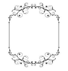 vintage frame with swirls vector image vector image