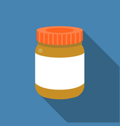 Bottle icon with blank label vector
