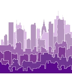 Color shades of purple vector image vector image