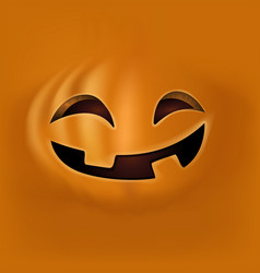 halloween pumpkin face vector image