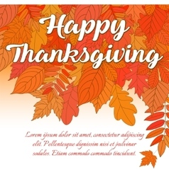 Happy Thanksgiving Day 1 vector image vector image